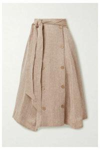 Lisa Marie Fernandez - + Net Sustain Diana Linen-blend Gauze Midi Skirt - Sand