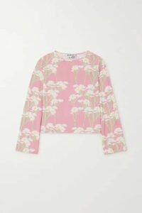 BERNADETTE - Monica Floral-print Stretch-jersey Top - Pink