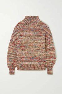 Victoria, Victoria Beckham - Oversized Mélange Knitted Turtleneck Sweater - Red