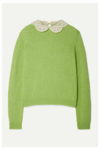 THE Marc Jacobs - Crochet-trimmed Wool Sweater - Bright green