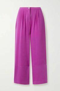 Fleur du Mal - Crepe Wide-leg Pants - Magenta