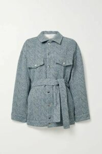 IRO - Malcolm Oversized Belted Tweed Jacket - Blue