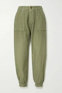 R13 - Cotton-twill Tapered Pants - Army green