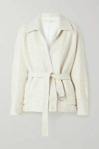 IRO - Zanti Oversized Belted Bouclé Jacket - Ecru