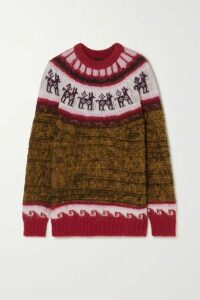 Miu Miu - Oversized Fair Isle Alpaca-blend Sweater - Brown