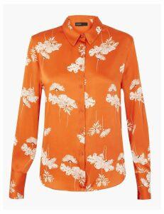 Autograph Satin Floral Print Shirt