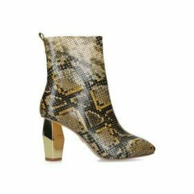 Kurt Geiger London Daxon - Snake Print Gold Heel Ankle Boot