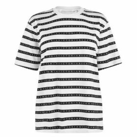 Victoria by Victoria Beckham All Over Tape Print T Shirt