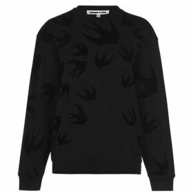 McQ Alexander McQueen Swallow Crew Neck Sweater