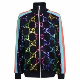 Gucci Gg Sequin Bomber Sweatshirt