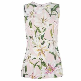 Dolce and Gabbana Lily Print Tank Top