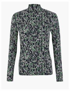 M&S Collection Cotton Rich Long Sleeve Top