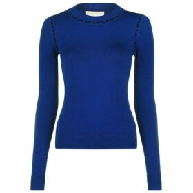 MICHAEL Michael Kors Trim Long Sleeved Crew Neck Sweater