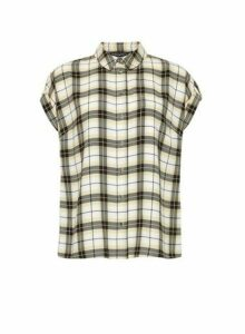 Womens Lemon Check Print Shirt - Yellow, Yellow