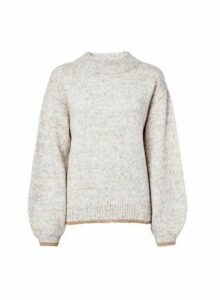 Womens **Tall Long Sleeve Jumper- Beige, Beige