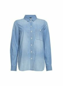 Womens Blue Denim Shirt, Blue