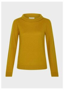 Audrey Wool Cashmere Sweater Dijon