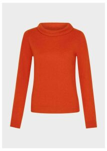 Audrey Wool Cashmere Sweater Rust Orange