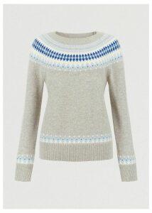 Layla Merino Wool Blend Sweater Grey Multi