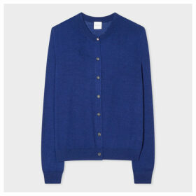 Women's Indigo Cardigan With 'Beetle' Openwork Detail