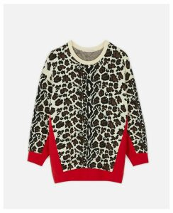Stella McCartney Multicolour Animal Jacquard Jumper, Women's, Size 4