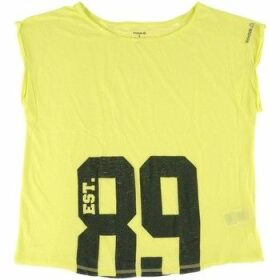 Reebok Sport  Aerobics Graphic Top  women's Blouse in Yellow