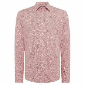 Michael Kors Mini geo print slim fit shirt