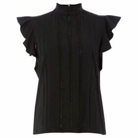 Polo Ralph Lauren Short Sleeve Frill detail top