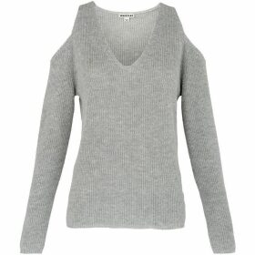 Whistles V Neck Cold Shoulder Sweater