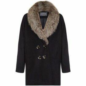 Anastasia  - Fur Collar Women`s Winter Coat  women's Coat in Black