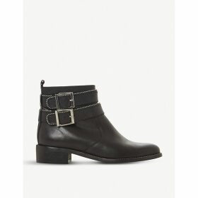 Pabblo studded buckle leather boots