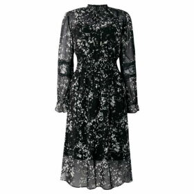 DKNY Printed maxi dress with lace detail