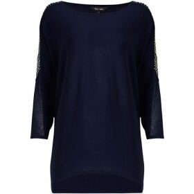 Phase Eight Donisha Beaded Shoulder Knit Jumper
