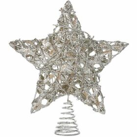 House of Fraser Silver Glitter Tree Topper