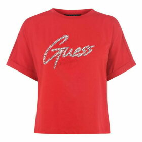 Guess Guess Diamante Crop Top - CRAVOS G6U2