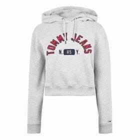 Tommy Jeans Logo Hoodie - PALE GREY HTR