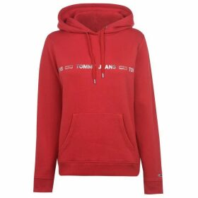 Tommy Jeans Tommy Linear Logo Hoodie - RACING RED