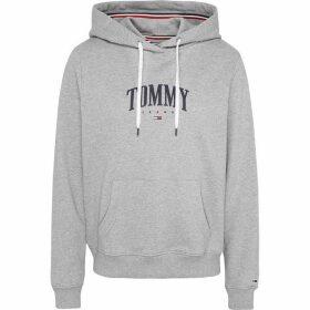 Tommy Jeans Ess Logo Hood Ld00 - LT GREY HEATHER
