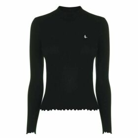 Jack Wills Marston Stripe Long Sleeve Top - Black