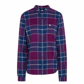Jack Wills Homefore Classic Fit Checked Shirt - Plum