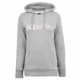 Superdry Superdry Rainbow Embroidered Hoodie - Grey Marl