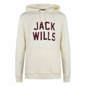 Jack Wills Torwood Graphic Hoodie - White