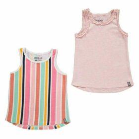 SoulCal 2pk Jsy Vest IG03 - Rainbow/Pink
