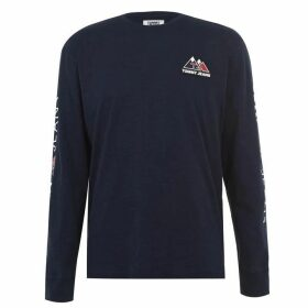 Tommy Jeans Out Mountain Long Sleeve T Shirt - Black Iris