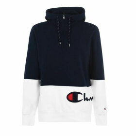 Champion Cut and Sew Hoodie - NVB/WHT