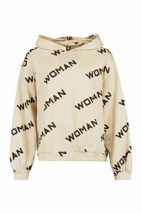 Womens Woman Balloon Sleeve Oversized Sweat - beige - 16, Beige