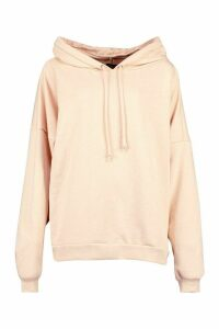 Womens Premium Extreme Oversized Back Print Hoodie - Brown - M, Brown