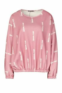 Womens Woman Oversized Sweatshirt - pink - 14, Pink