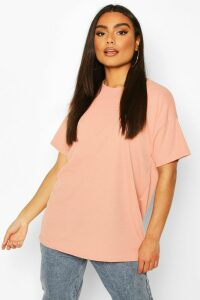 Womens Ribbed Oversized T-Shirt - pink - 12, Pink