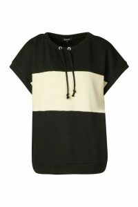 Womens Colour Block Sweatshirt - black - 12, Black